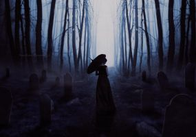 Midnight cemetery by Creamydigital
