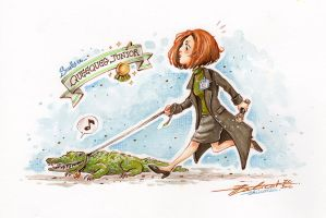 FANART ~ The X-Files, Dana Scully and Queequeg Jr by Calicot-ZC