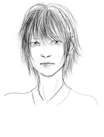 Portrait sketch by sakamu