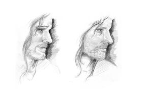 Weekly sketch - Aragorn by AndyIomoon