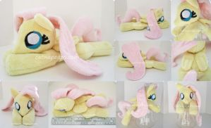 Squeakershy Fluttershy Squeaking Beanie Plush by CatNapCaps