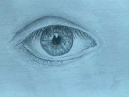 First detailed eye drawing.  by ahgirltc