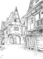 Streets of Wyzima - Scribble by Antares-DeathArt