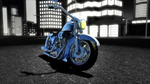 Harley at night by Jorgeg3D
