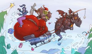 a very blizzard christmas by Merlemage
