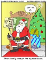 Santa and Teleprompter Cartoon by Conservatoons