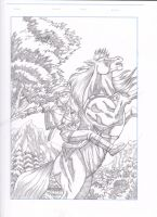 Link and Epona by DaigotheBeast
