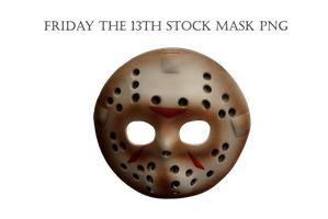 Friday The 13th Stock Mask PNG by KarahRobinson-Art