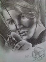 Katniss Everdeen, The Girl Who Was on Fire by PetiteChatNoir