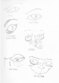 Eyes and expressions - magic by MjallowXD