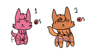 OPEN Five Point Abstract Cat Adoptables by Plateofgaming