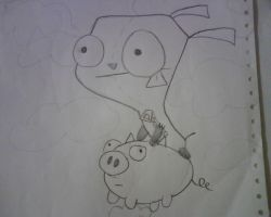 gir and piggy by Tori9823