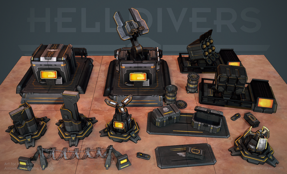 Helldivers - Helldiver Tech Wires by OskarKuijken