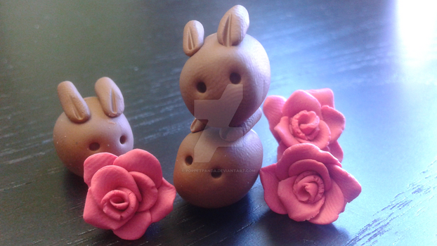 Stacks on Stacks Stacks! PolymerClay Choco Bunnies by PoppetPanda