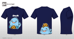 CutemonsterTeeDesign2-darkblue ver. by JaeToh