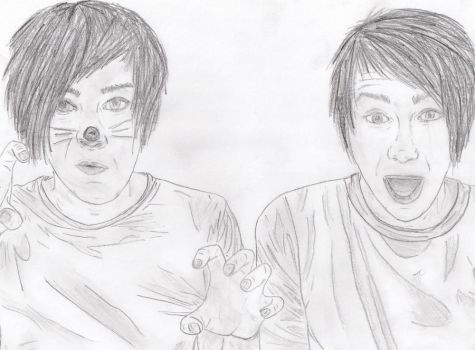 Dan and Phil say RAWR by angel-of-darkness29
