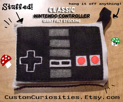 Nintendo controller felt christmas stocking by ElectrikPinkPirate