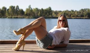 Sun in the Fun with Her Legs Crossed - Iryna - LE by LegsEmporium