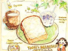 #daily_049 Today's Breakfast by tinashan