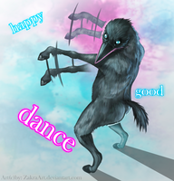 Dance horsebird dance by ZakraArt