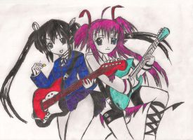 Yui and shiina from Angle beats colour by Izzy-Nightshade