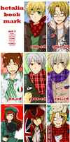 Hetalia Bookmarks Set 1 by KaruKaruKira