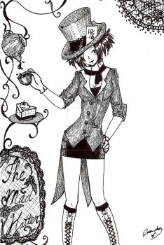 Mad Hatter-Commision- by sirenlovesyou