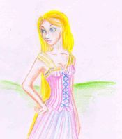 Disneys Rapunzel by fireburner543