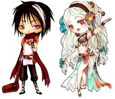 - COMMISSION - Chibi Leirys and Siam - by ooneithoo