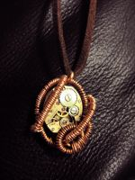Steampunk Necklace - Copper2 by xxPRECIOUSMOMENTSxx