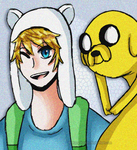 Finn and Jake by brittanyduoser