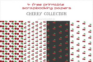 {Free printable papers} - Cherry Collection by byjanam