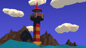 Lighthouse in the evening by MisterM0rtal