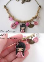 geisha Namie necklace with love kanji by elvira-creations
