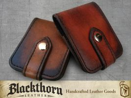 Card Wallet Pair by Blackthornleather