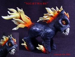 My Little Demon Pony ooak by Undead-Art