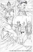 Arrow of Destiny pg 2 pencils by MAW-Productions