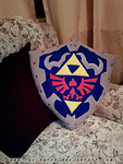 Hylian Shield Pillow by tavington