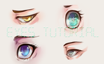 Eye tutorial: drawing and digitally coloring eyes by twin-tail