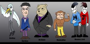 MonkeyMan Lineup 1 by Lordwormm