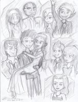 Robin and Starfire - The Wedding Sketch Dump by DarkkAngelll