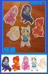 Adventure Time Sticker Set 1 by Busoni