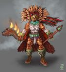 Aztec warrior by nahual4004