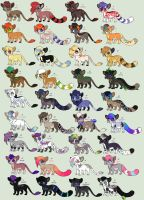 A Rainbow of Adopts (closed) by Kainaa