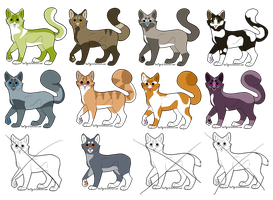 Cat Adoptables OPEN by SparksHumbleAbode