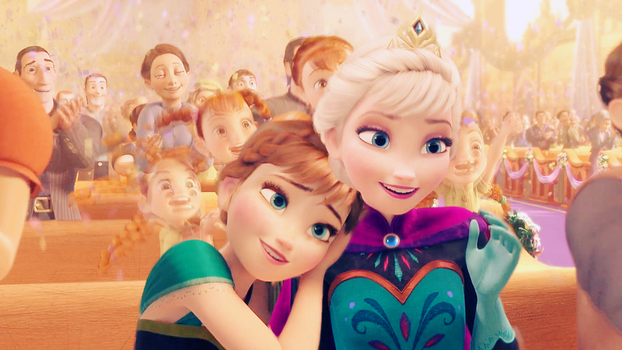 Elsa and Anna in Corona by FrozenxFairytale