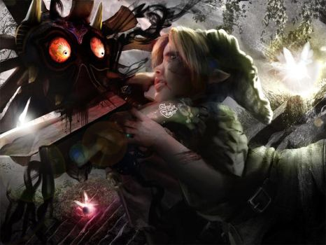 ZELDA - MAJORA, Face to face... by CharlieRomeo
