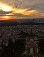 View from eiffel tower by karlicka