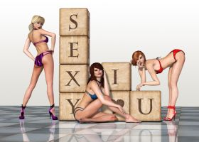 Pin Up Girls by Roys-Art