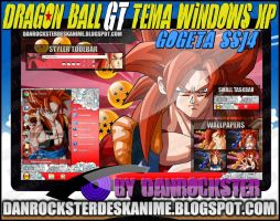 Gogeta SSJ4 Theme Windows XP by Danrockster